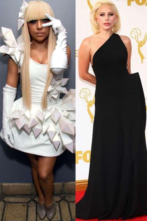 """Lady Gaga trông đen nhẻm khi xuất hiện vào năm 2008 với mái tóc giả khá 'quê', phong cách trang điểm đậm. Trong hai năm trở lại đây, cô lột xác với phong cách cổ điển, nữ tính. Trông cô cũng dịu dàng và hấp dẫn hơn nhiều khi không còn diện những bộ cánh làm bằng """"thịt"""", giấy với những thiết kế """"dị""""."""