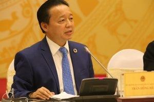 Bộ trưởng Bộ Tài nguyên Môi trường Trần Hồng Hà