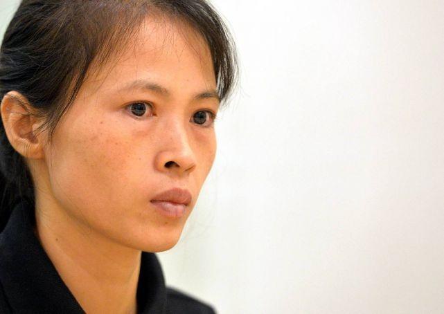 Chị Bùi Thị Thu Hà, vợ anh Phan Đức Thắng. Ảnh: Asia One