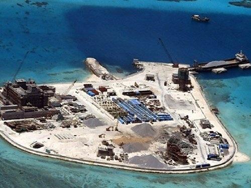 Trung Quốc không ngừng xây đảo nhân tạo trái phép trên Biển Đông. Ảnh: CSIS.