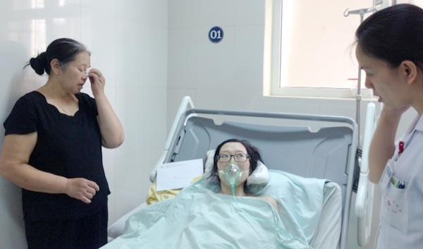 Bệnh nhân Trâm vẫn đang nằm hồi sức tại bệnh viện K