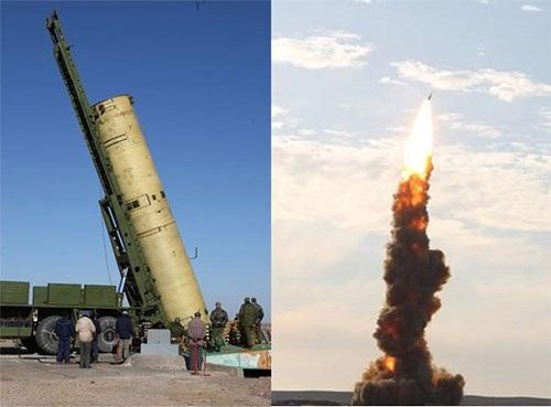 Một vụ phóng thử tên lửa đánh chặn của hệ thống phòng thủ tên lửa bảo vệ Moscow.