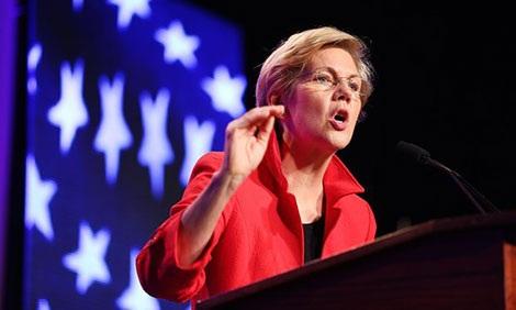 Thượng nghị sĩ Elizabeth Warren.