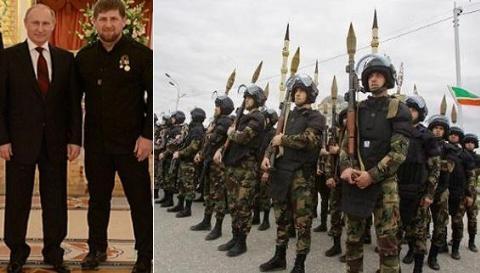 Ông Kadyrov đã từng tuyên bố 20.000 lính đặc nhiệm Chechnya sẵn sàng đợi lệnh Tổng thống Nga Putin để đi chiến đấu