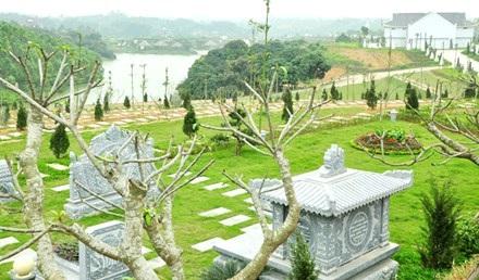 Một góc Công viên Nghĩa trang Thiên Đức (Phú Thọ).