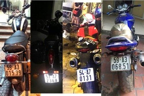 Hàng loạt xe mô tô phân phối lớn không rõ nguồn gốc bị 141 phát hiện