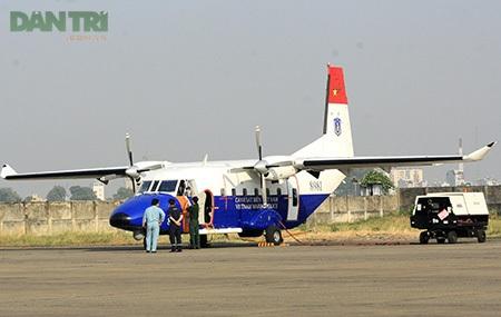 Máy bay CASA-212 bị tai nạn từng tham gia tìm kiếm máy bay MH370 mất tích năm 2014 (ảnh: Trung Kiên)