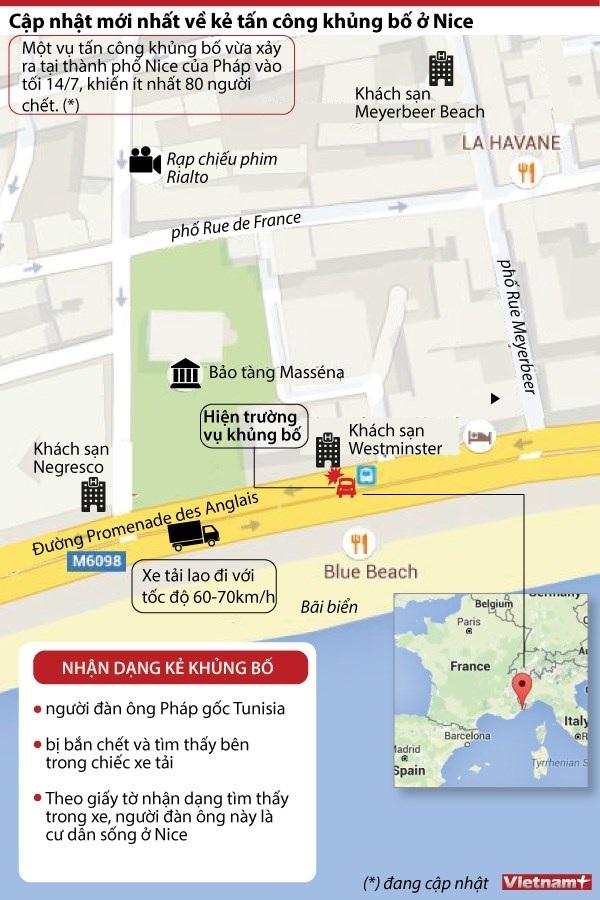 [Infographics] Cập nhật mới nhất về kẻ tấn công khủng bố ở Nice - 1