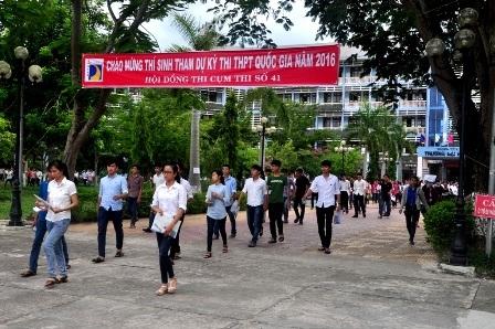 Cụm thi 41 tỉnh Quảng Nam có 1 thí sinh đạt điểm 10 môn Lịch Sử. (Ảnh: Công Bính)