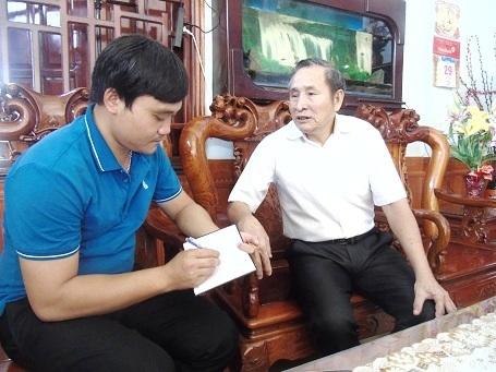 Ông Nguyễn Xuân Diều trong cuộc trò chuyện với PV Dân trí