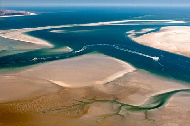 Biển Wadden nhìn từ trên không. (Nguồn: NatGeo)
