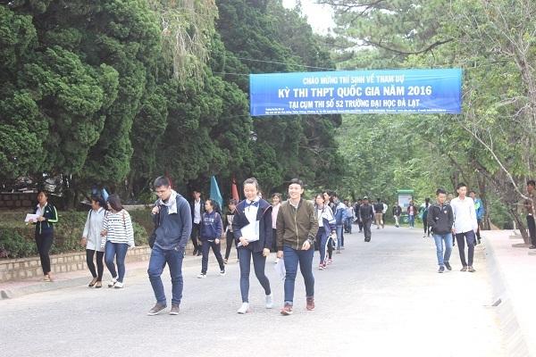 Cụm thi số 52 trường Đại học Đà Lạt có 1 thí sinh bị đình chỉ