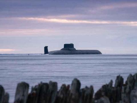 Tàu ngầm hạt nhân Dmitri Donskoy.