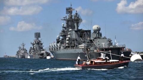 Soái hạm Moskva của Hạm đội Biển Đen.