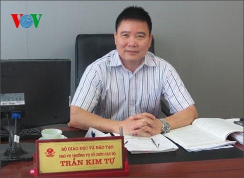 Ông Trần Kim Tự, Phó Vụ trưởng Vụ Tổ chức cán bộ (Bộ GD-ĐT)