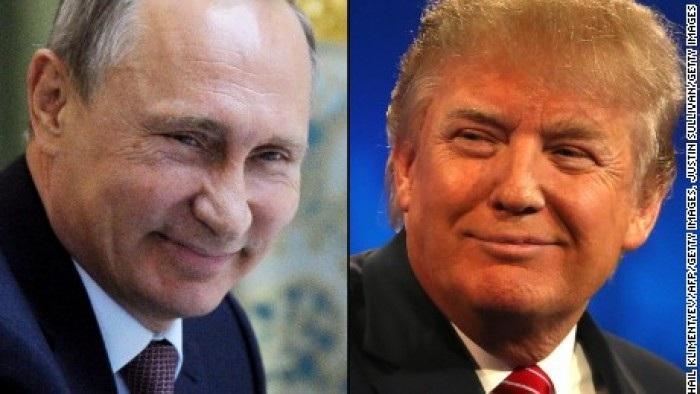 Tổng thống Nga Putin và ứng cử viên tổng thống Mỹ Donald Trump