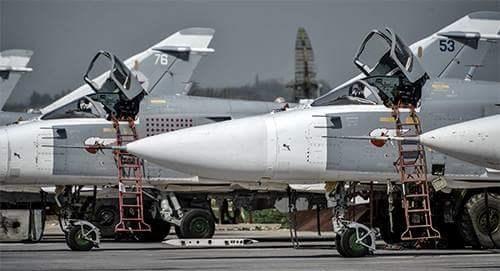 Máy bay tiêm kích-bom Su-24M2 của Không quân Nga tham chiến tại Syria. Ảnh minh họa
