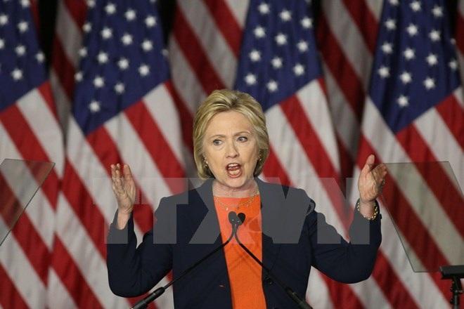 Ứng cử viên hàng đầu của đảng Dân chủ Hillary Clinton. (Ảnh: AFP/TTXVN)