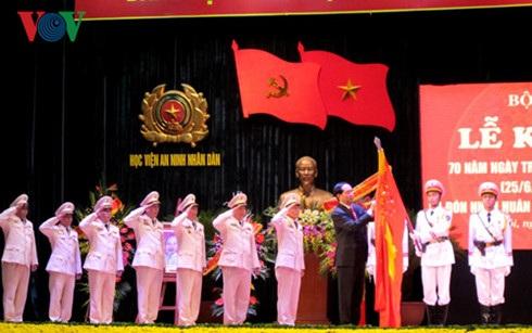 Chủ tịch nước Trần Đại Quang trao Huân chương Quân công hạng nhất cho Học viện An ninh nhân dân