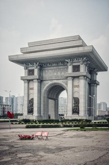 Khải Hoàn Môn tại Bình Nhưỡng, được xây dựng để kỷ niệm phong trào kháng chiến của người Triều Tiên trước Nhật Bản từ 1925-1945.