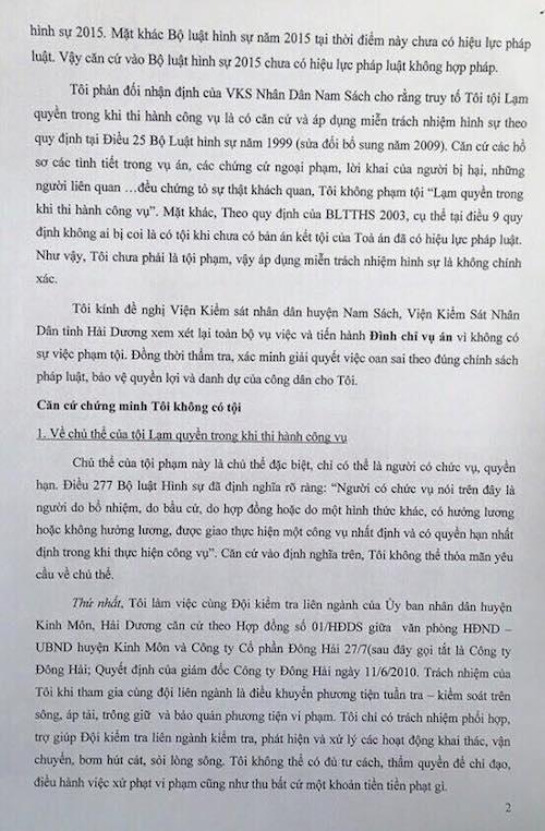 Người dân bị khởi tố tội Lạm quyền chính thức khiếu nại VKSND huyện Nam Sách - 3