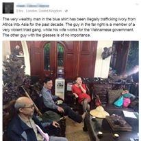 Lời tố nghệ sĩ Quang Tèo buôn ngà voi trên Facebook.