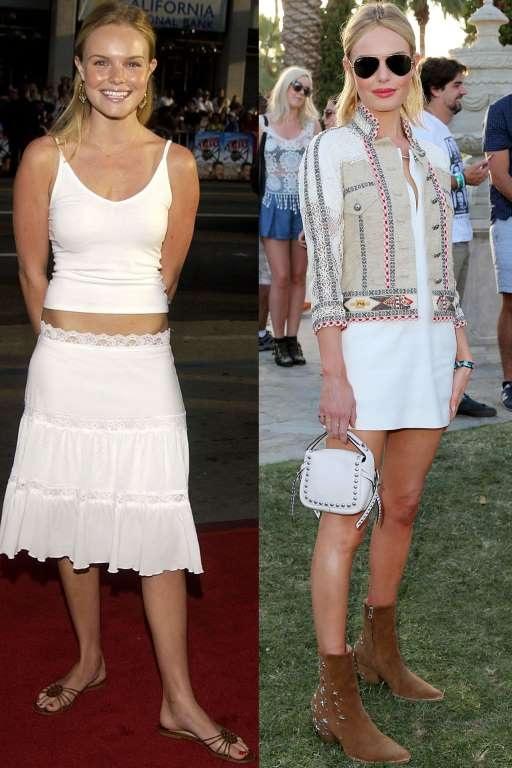 Kate Bosworth được xem là biểu tượng thời trang hiện tại của thế giới (phải).