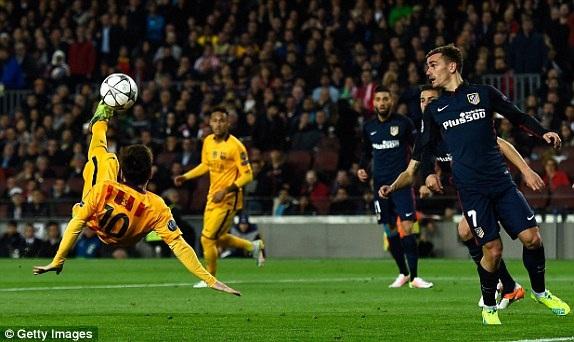 Messi luôn có duyên ghi bàn khi đối đầu Atletico