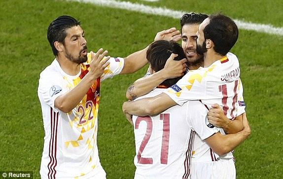 Tây Ban Nha đang chơi tấn công ấn tượng tại Euro 2016