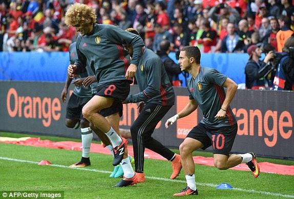 Đội tuyển Bỉ được đánh giá cao hơn trước trận đấu