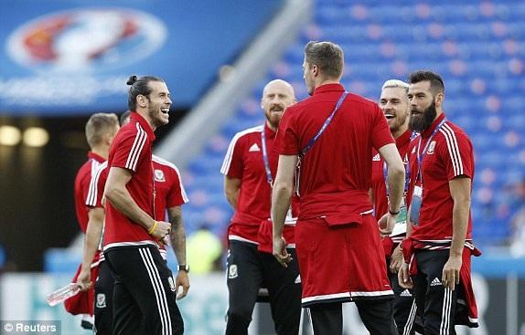 Cầu thủ Wales khá thoải mái trước trận đấu