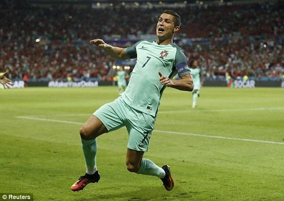 CR7 đã có 9 bàn thắng ở các kỳ Euro, ngang bằng kỷ lục của Michel Platini