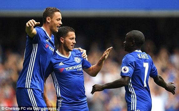 Hazard đã có bàn thắng tuyệt vời trong trận đấu này