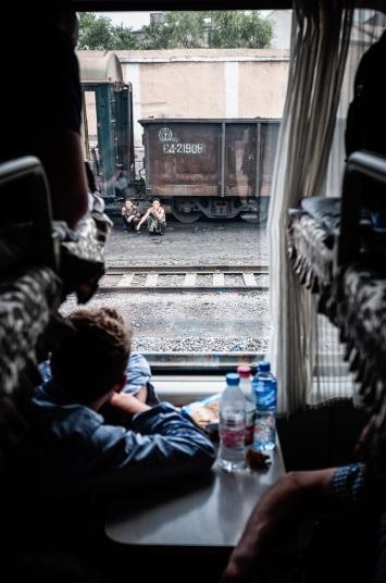 Ngoài thủ đô Bình Nhưỡng, Huniewicz cũng tới thăm các vùng nông thôn của Triều Tiên. Đây là một bức ảnh Huniewicz chụp từ trên tàu hỏa.