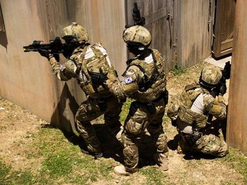 Lực lượng đặc biệt của Hàn Quốc tham gia huấn luyện. Ảnh: Matthew J. Bragg/US Marine Corps