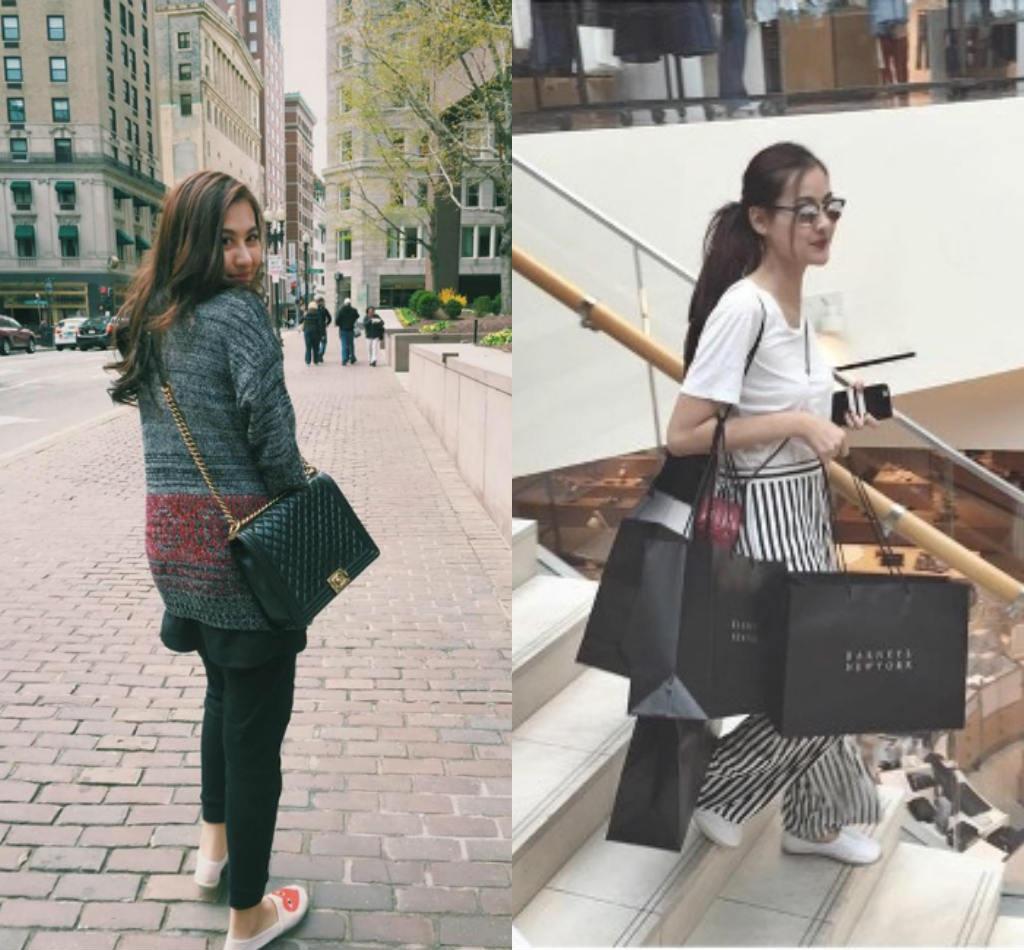 Cô nàng thường đi du lịch khắp nơi và shopping đồ hiệu