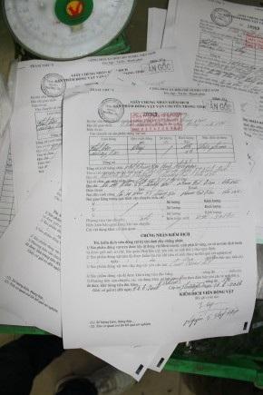 Một số giấy tờ có dấu hiệu sửa chữa, giả mạo