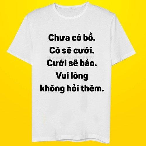 Áo phông ngày Tết dành cho gái ế (ảnh minh họa)