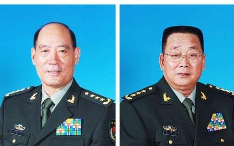 Tướng Li Jinai (trái) và Tướng Liao Xilong (Ảnh: SCMP)