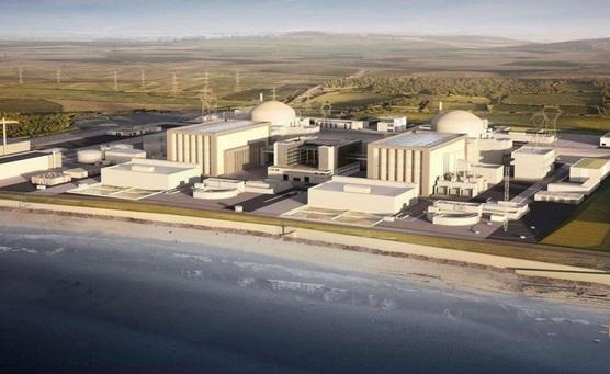 Đồ họa mô phỏng nhà máy điện hạt nhân Hinkely Point ở tây nam nước Anh (Ảnh: AFP)
