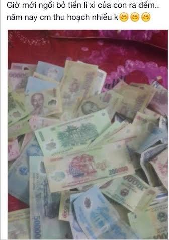 """Khoe 20 triệu lì xì, mẹ Việt được trầm trồ:""""Lãi thế"""" - 2"""