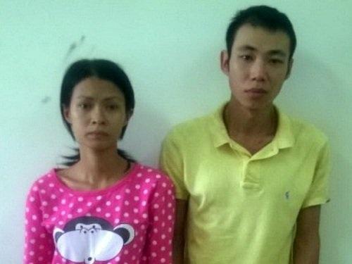 Vợ chồng Mi và Hào tại cơ quan công an. (Ảnh: Tuổi Trẻ)