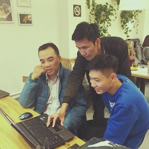 Trần Thanh Quý cùng 2 cộng sự của mình.