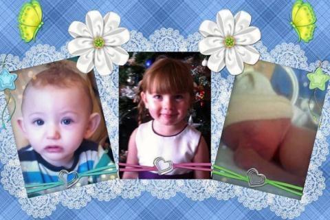 Kelsey và hai em của cô bé