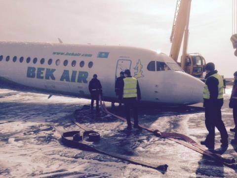 Máy bay chở khách ở Kazakhstan hạ cánh bằng mũi