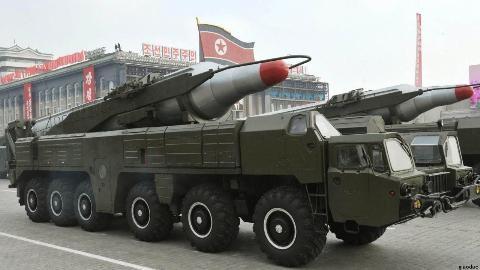 Tên lửa được Triều Tiên phô diễn trong lễ duyệt binh tại Bình Nhưỡng