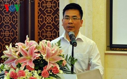 Bí thư chi bộ Lưu học sinh Việt Nam tại Bắc Kinh Nguyễn Tùng Lâm.