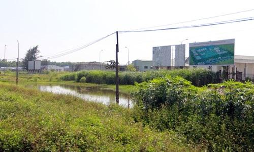 Cảnh hoang tàn trước khuôn viên nhà máy.