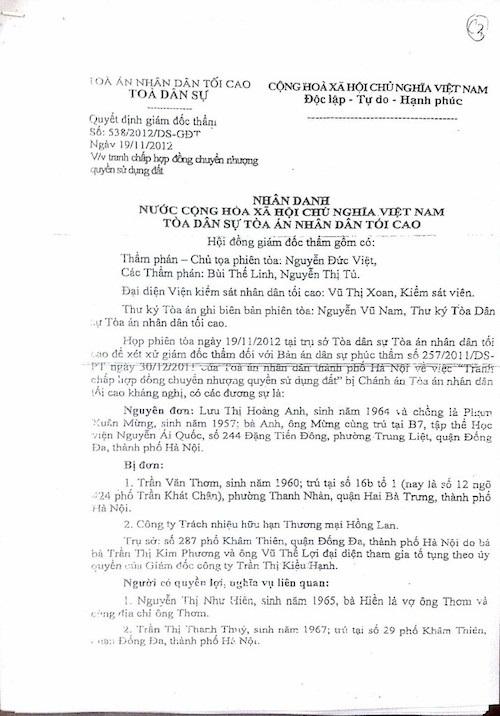 Hà Nội: Vụ án lạ không giao kết hợp đồng vẫn phải bồi thường? - 4