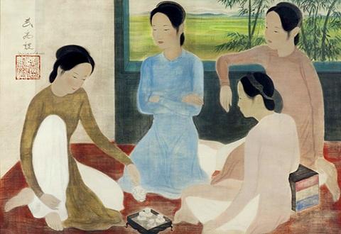 Bức Thiếu nữ uống trà (thật) từng xuất hiện tại Bảo tàng Cernuschi